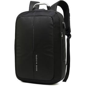 クロース(Kroeus)防犯バックパック ビジネスバッグ 人気 2way メンズ 大容量 通勤 出張 ブリーフケース 15.6インチPC TSAロック USBポート リュックサック 手提げ ブラック