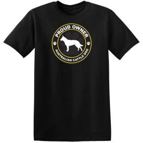 メンズ誇り所有者オーストラリアの牛の犬のTシャツ