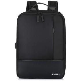 Liberty-Z 3way メンズ リュック ビジネス バッグ ショルダーバッグ PCバッグ 手さげ 多機能 15.6インチ (ブラック-Bタイプ)