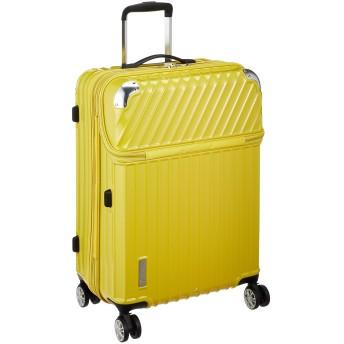 [トラベリスト] スーツケース ジッパー トップオープン モーメント 拡張機能付き 無料預入 76-20300 61L 64 cm 4.3kg イエローカーボン