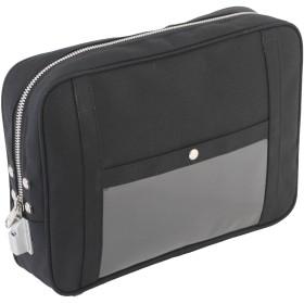 [三栄産業株式会社] PLL-KM 帆布メール用ポーチ 1錠付 キー2本付 A4サイズ対応 (黒)