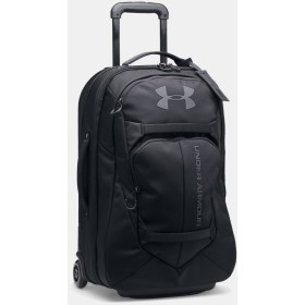 [UNDER ARMOUR] アンダーアーマー UA Carry-On Rolling Travel Bag Black /Black [並行輸入品]