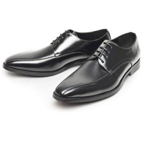 [ジーノ] ビジネスシューズ 靴 革靴 メンズ ロングノーズ ローファー メダリオン フォーマル 幅広 防滑 紳士靴【B】 ze5512[Black] 27cm