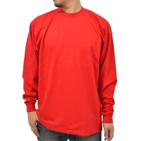 PRO CLUB(プロクラブ) 大きいサイズ メンズ Tシャツ 無地 (XL, レッド)