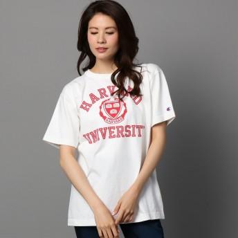 [チャンピオン] T1011 US Tシャツ MADE IN USA C5-K302 メンズ ホワイト×マルーン 日本 M (日本サイズM相当)