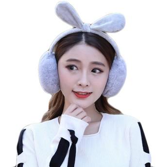 イヤーマフ レディース 可愛い 防寒 耳当て 耳カバー 折り畳み コンパクト 調節可能な 13色 (猫の耳, グレー)