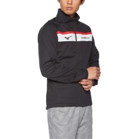 [Mizuno] サッカーウェア テックシールド モレリア ウォーマーシャツ P2ME8505 メンズ ブラック×タンゴレッド 日本 L (日本サイズL相当)