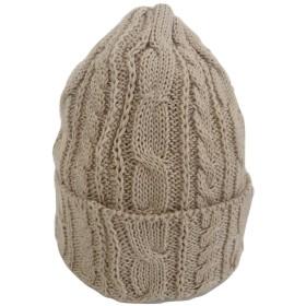 HIGHLAND 2000 (ハイランド2000) コットン 100% ニット キャップ ケーブル編み ワッチキャップ 帽子 ユニセックス ベージュ