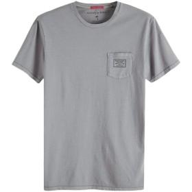 スコッチ&ソーダ Tシャツ SCOTCH&SODA Garment Dyed T-Shirt グレー 292-74409 メンズ トップス 半袖 Tee カットソー 胸ポケット アメカジ|L グレー(03)
