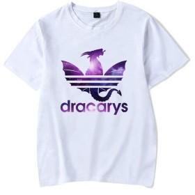 Jacklin Fashion GOT Tシャツ、Dracarys ドラゴンフレイム Tシャツ、フィクションファン&TVドラマファンのための快適で ラウンドネック半袖シャツトップ - 複数の色とサイズで利用可能