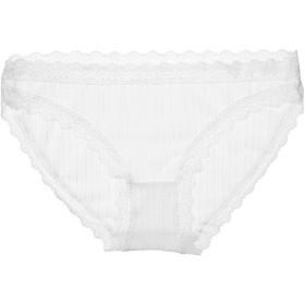 レディース ショーツ 少女 セクシー下着 薄くレース 生理用 洗濯易い 可愛い パンティ レディースインナーウェア Underwear for Teen 女性 レギュラーショーツ (白い色, L(64-120cm))