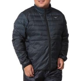 [ミズノ] MIZUNO 大きいサイズ メンズ MOVE DOWN サイドストレッチ フルジップ ジャケット ネイビー / 6L
