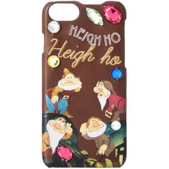 [アコモデ] [Disney] ディズニー スノーホワイト デコレート iPhoneケース 白雪姫 小人 iPhone6/6s/7/8対応 ブラウン