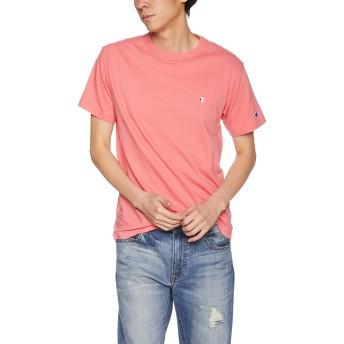[チャンピオン] ワンポイントロゴTシャツ ベーシック C3-P300 メンズ ピンク 日本 M (日本サイズM相当)