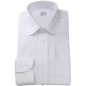 ワイシャツ 軽井沢シャツ [A10KZR039] ラウンドカラー ホワイト 綿ポリ混(100双) 形態安定 らくらくオーダー受注生産商品 標準型