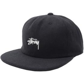 [ステューシー] STUSSY キャップ 帽子 Melton Wool Strapback Cap フリー ブラック [並行輸入品]