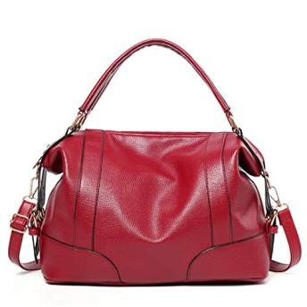 女性のファッションカジュアルハンドバッグショルダーバッグ (赤)