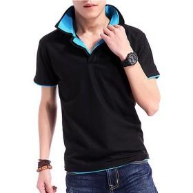 (オール ホワイト) ALL WHITE 大人 かっこいい メンズ 重ね着風 お洒落 襟付き 半袖 ポロ シャツ サマーシャツ tシャツ ( 大きい サイズ あり ) aw-00197