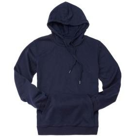 Dizoon [メンズシリーズ] パーカー メンズ 無地 長袖 tシャツ 大きめ スウェット シャツ カジュアル トップス ペアルック 9色 (紺色, 3XL)