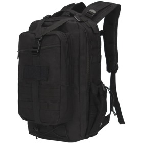タクティカル バックパック ミリタリー 大容量 防水 3Day 軍用リュック メンズ 30L 選べる5色 迷彩 アウトドア 登山リュック (ブラック)