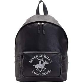 [ビバリーヒルズポロクラブ] BEVERLY HILLS POLO CLUB バッグ バックパック リュックサック 合成皮革 メンズ BH9002M A4収納可 (ブラック)