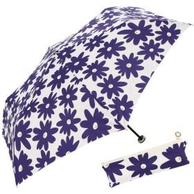 a.s.s.a 傘 折りたたみ 雨傘 軽量 コンパクト ジップポーチ付き 北欧プリント BOTANICAL ボタニカル RM169(RM169/ネイビー)