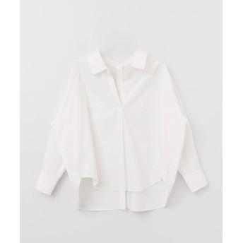 [ケービーエフ] シャツ ブラウス KBF+ 後ろボタンビックシャツ レディース OFF one