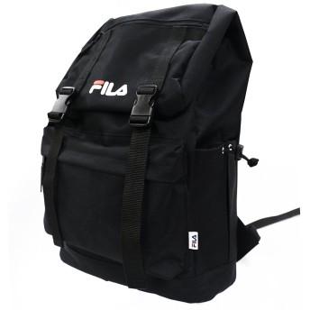 フィラ リュック 大容量 サイドファスナー バックパック (ブラック)