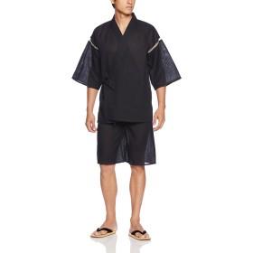 (マルカワジーンズパワージーンズバリュー) Marukawa JEANS POWER JEANS VALUE 甚平 メンズ 和装 5color (M, ブラック)