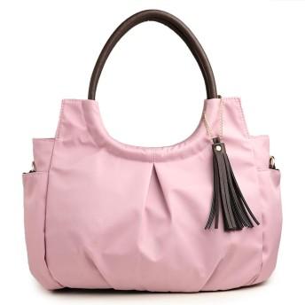 [プラグマ] PRAGMA ナイロン 2wayトート&ショルダーバッグ 丸型ハンドル … (ピンク)