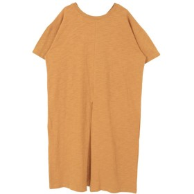 ティティベイト スリット入り前後2wayロング丈Tシャツ レディース オレンジ S 【titivate】