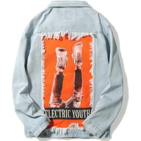 VIISHOW デニムジャケット ジャケットファッション カジュアルジャケット メンズ 通学 通勤