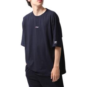 [フィラ] FILA 別注ワンポイントフロントTシャツ fh7526 ネイビー LL