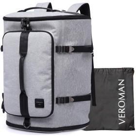 [Veroman] スポーツリュック メンズ ジムバッグ 旅行バッグ 大容量 防水 シューズ収納 45L ライトグレー