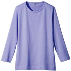 Tシャツ レディース 7分丈 7分袖 インド綿 七分袖 Tシャツ 全5色 S-LL(ラベンダー LL)
