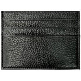 カードケース (ブラック) 本革 スリム カード入れ インナー 財布 ウォレットイン レザー カラフル 薄型 ビンテージ アンティーク 革 コンパクト カード収納 ポケット 名刺入れ