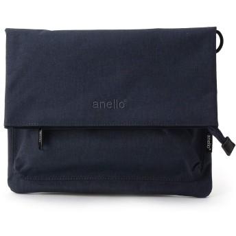 anello アネロ 杢ポリ2WAY口折れショルダーバッグ