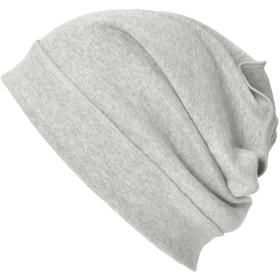 CHARM 医療用帽子 抗がん剤 オーガニックコットン 日本製 - [ フリーサイズ/ライトグレー ] 秋冬春用 ゆったり
