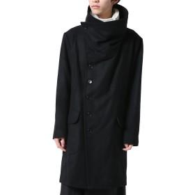 (アズスーパーソニック) AS SUPER SONIC コート ロング丈 ウール モード系 日本製 メンズ ブラック F
