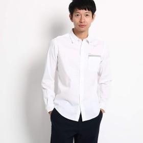 (ザ ショップ ティーケー) THE SHOP TK タイポロゴプリントシャツ 61685663 03(L) オフホワイト(003)