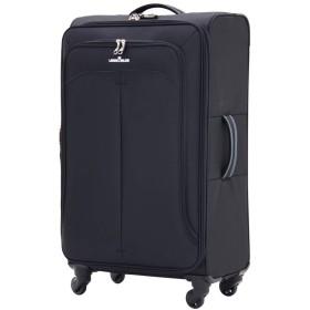 [アウトレット] ソフト 軽量 大型 スーツケース キャリーケース キャリーバッグ キャリーケース Lサイズ 拡張 可 (B-4003-68) ブラック