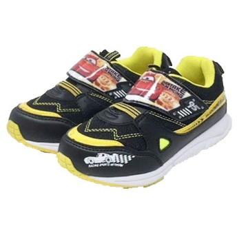 [コマリョー] 6202 Disney ディズニー カーズ スニーカー 靴 運動靴 幼稚園 小学生 男の子 (18cm, 01(ブラック・イエロー))