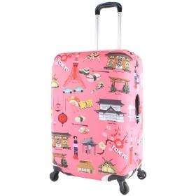 スーツケースカバー (S-(外寸約50×40×26cm以内), LCS343)