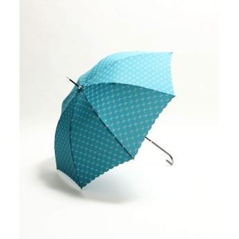 [ アフタヌーンティー リビング ] AfternoonTea LIVING チェックリボン柄長傘 雨傘 グリーン