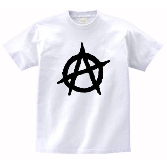 【ノーブランド品】 音楽 バンド ロック ANARCHY Tシャツ 白 MLサイズ (L)