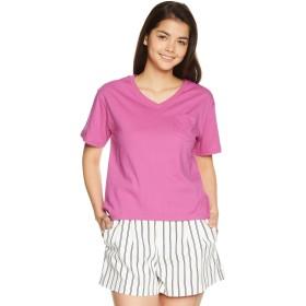 [ウィゴー] Tシャツ SILKCOTTON VネックT(S) レディース Sピンク 日本 M (日本サイズM相当)