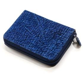 AIZOME-HIPP1144 コインケース メンズ レディース ラウンド ファスナー小銭入れ カバ革 ヒポポタマス 革 レザー ジッパー ギフト 日本製 藍染