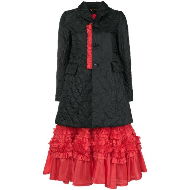 Comme Des Garçons キルティング コート - ブラック
