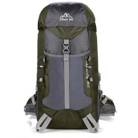 登山 リュック バックパック リュックサック ハイキングバッグ リュックデイパック USB充電ポート搭載 防水 レディース メンズ アウトドア ナイロン グリーン