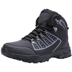 [UMmaid] メンズ ハイキングシューズ トレッキングブーツ 登山靴 通気性 アウトドアシューズ 防滑 防水 ローカット ウォーキングシューズ 耐磨耗 大きいサイズ 幅広 スニーカー (26.5cm,ブラック)